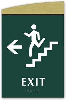 Braille Stair Exit Directional Sign