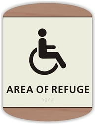 Braille Area of Refuge Sign