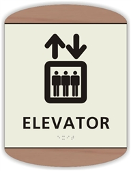 Braille Elevator Sign