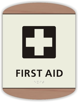 Braille First Aid Sign