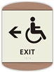 Braille Handicap Exit Directional Sign