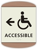 Braille Handicap Accessible Directional Sign