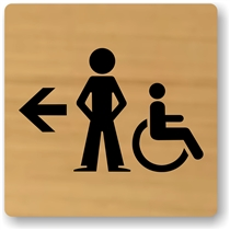 Boy's Directional Restroom Sign