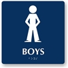 Boy's Restroom Braille Sign