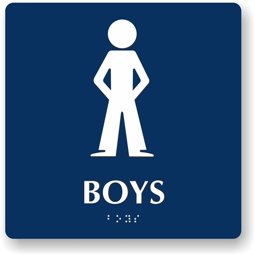 Boy u0027s Restroom Braille Sign To Meet ADA Requirements For Tactile Signs   Boy Bathroom Sign. Bathroom Boy Sign