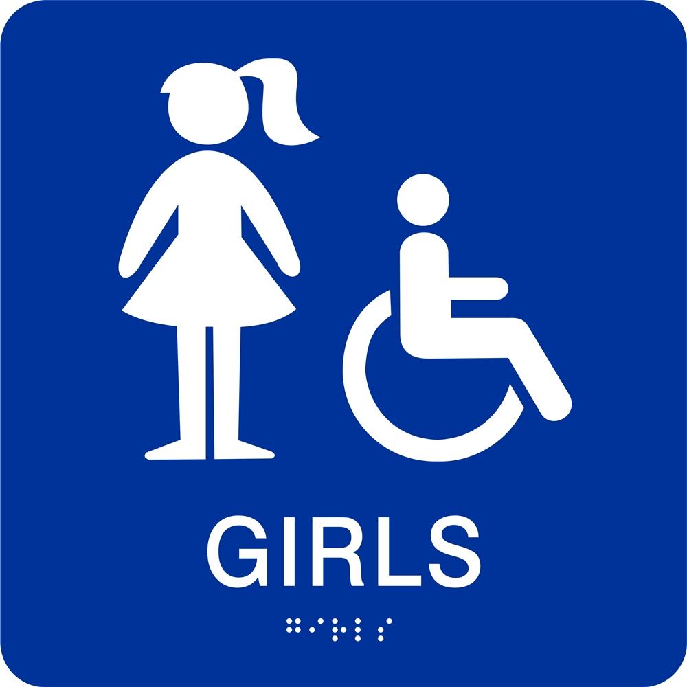 Classy 40 bathroom sign girl inspiration of girls white for Girls bathroom symbol