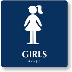 Girl's Restroom Braille Sign