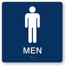 Men's Restroom Braille Sign