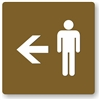 Men's Directional Restroom Sign