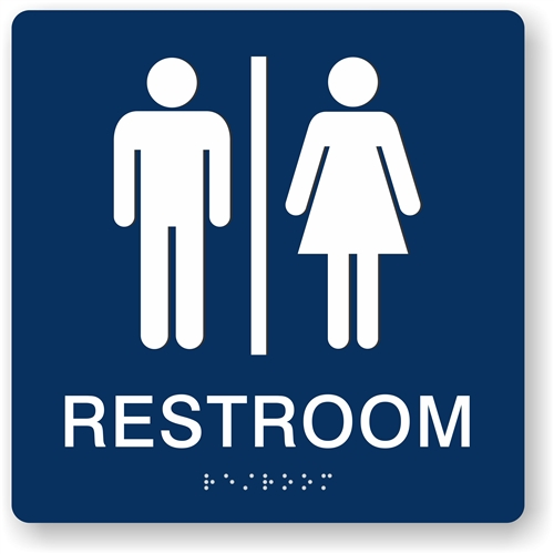 Bathroom Signs Braille restroom braille sign to meet ada requirements for tactile signs