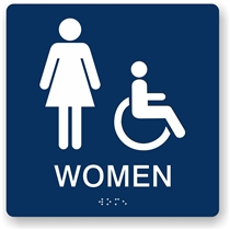 Women's Restroom Braille Sign