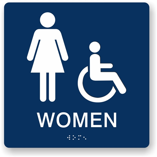 ada women 39 s restroom sign braille bathroom sign