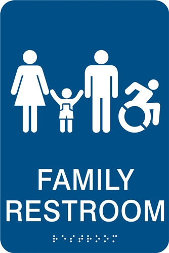 Groovy Family Restroom Ada Braille Sign Download Free Architecture Designs Xaembritishbridgeorg