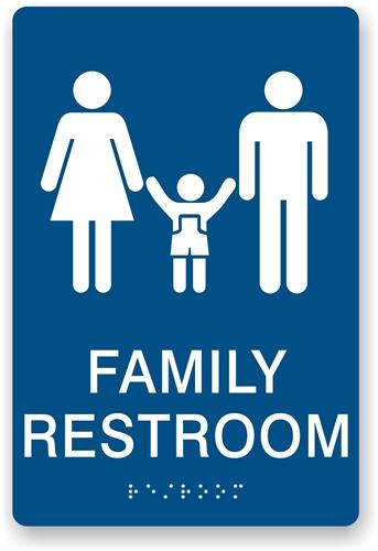 Bathroom Signs Ada ada braille family restroom sign