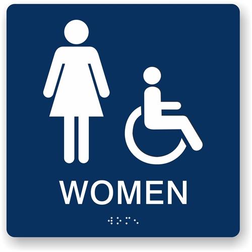 Bathroom Signs California handicap bathroom signs. be basic engraved restroom signs
