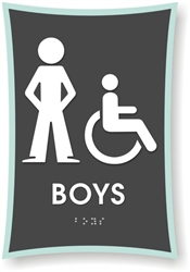 Boy's Braille Sign