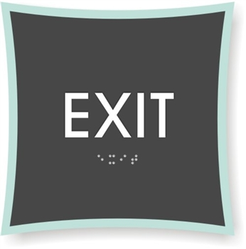 EXIT Braille Sign