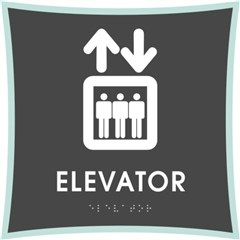 Elevator braille ADA Sign