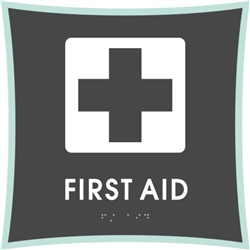 First Aid braille ADA Sign