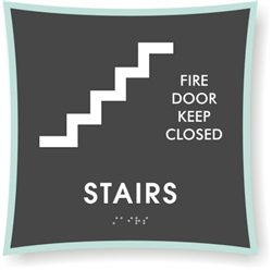 Braille Stairs Sign