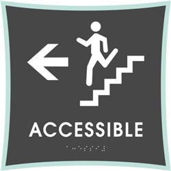 Stair Accessible braille ADA Sign