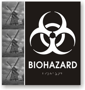 Biohazard Braille Sign