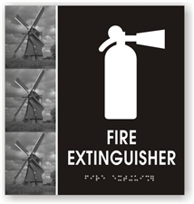 Fire Extinguisher Braille Sign