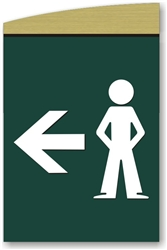 Boy's Directional Sign