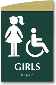 Girl's Braille Sign
