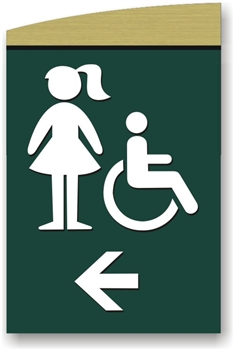 Girl's Directional Sign