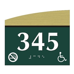 Room Number Braille Sign
