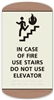 Braille In Case of Fire Sign