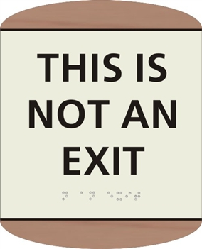 NO EXIT Braille Sign