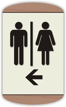 Restroom Directional Sign