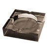 Crystal Cigar Ashtray Square Black Tint