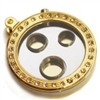 3 Hole Cigar Punch Cutter - Gold