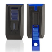 Colibri Slide Cigar Lighter - Black & Blue
