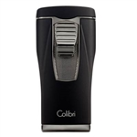 Colibri Monaco Lighter with Triple-jet Flame (Black & Gunmetal)
