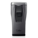 Colibri Monaco Lighter Metallic Charcoal with Triple-jet Flame