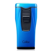 Colibri Monaco Lighter Metallic Blue with Triple-jet Flame