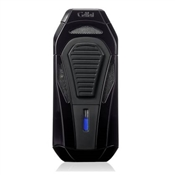 Colibri Boss Lighter - Metallic Black - Triple Flame Lighter w/ Double Guillotine Cigar Cutter