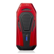 Colibri Boss Lighter - Red & Black - Triple Flame Lighter w/ Double Guillotine Cigar Cutter