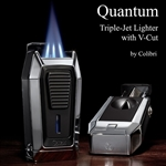 Colibri Quantum Triple-jet Flames Lighter with Built-in V-Cutter