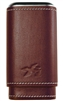 Xikar Envoy 3 Cigar Leather Case, Cognac