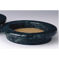 Grande Marble Wine Coaster, Green