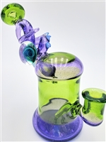 @cambriaglass SWIRL ENCALMO RIG PURPLE LOLLIPOP/META/MOONSTONE