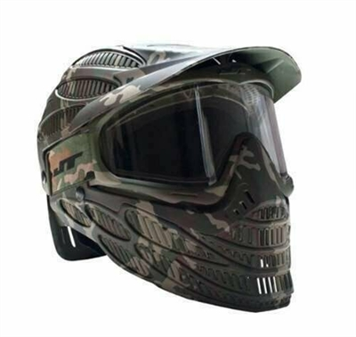 JT Spectra Flex 8 Full Coverage Headshield Paintball Mask - Camo