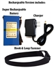 Super Rechargeable Li-ion 12V 6800mAh Battery with Charger and Hook & Loop Fastener