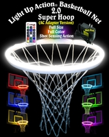 Light Up Action Basketball Net 2.0 Super Hoop (AC Adapter Version) Lighting System Full Size Full Color Shot Sensing Action