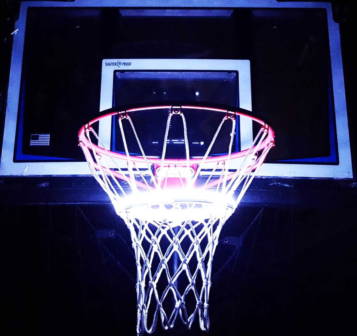 light up action basketball net goal lighting system